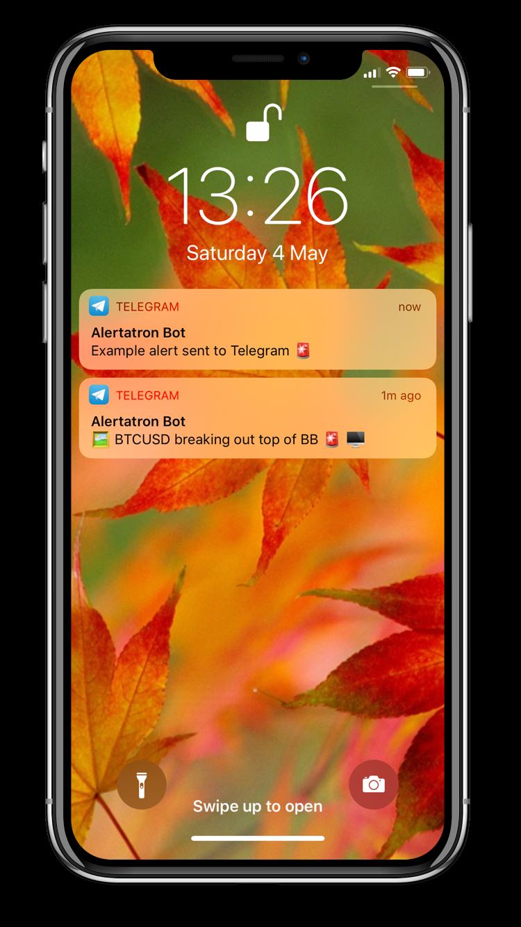 Alerts from TradingView to Telegram, Discord, Slack